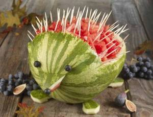 bistro kids watermelon porcupine